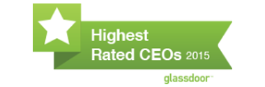 Awarded Glassdoor's Highest-Rated CEO recognition for 2015.